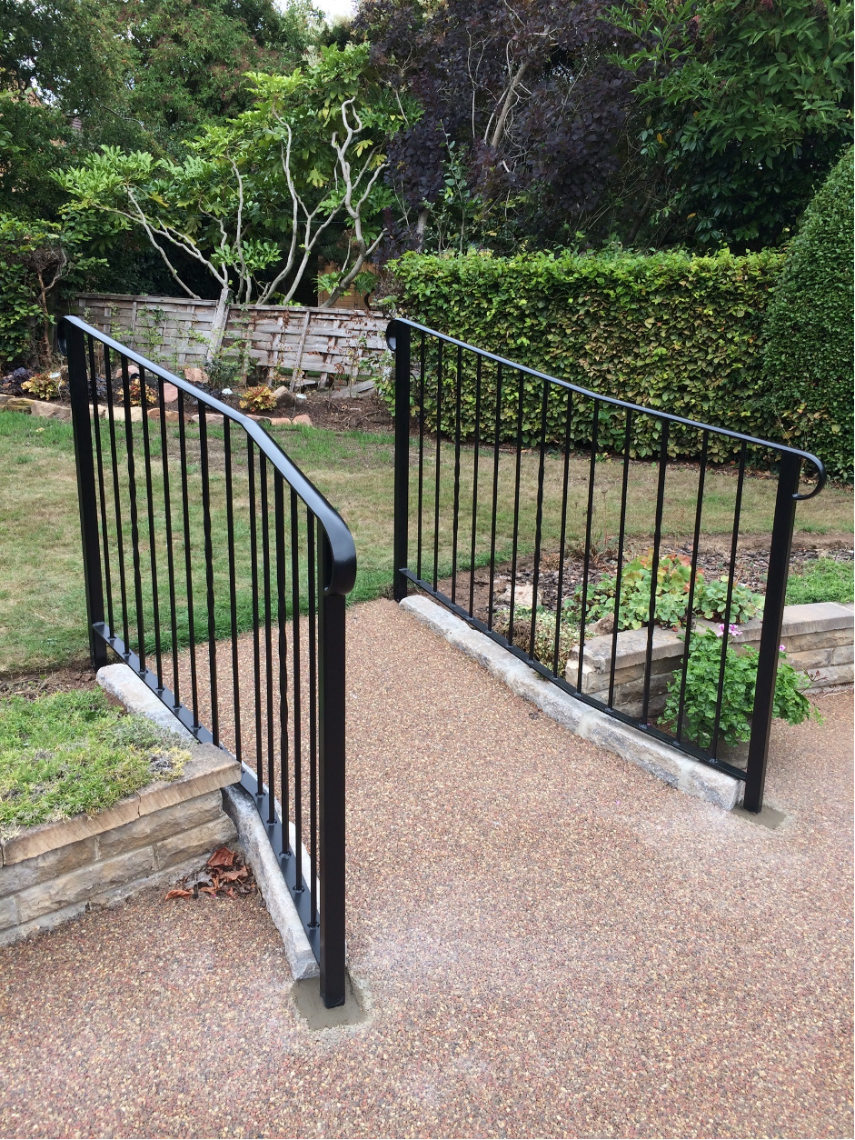 wrought iron garden hand rails