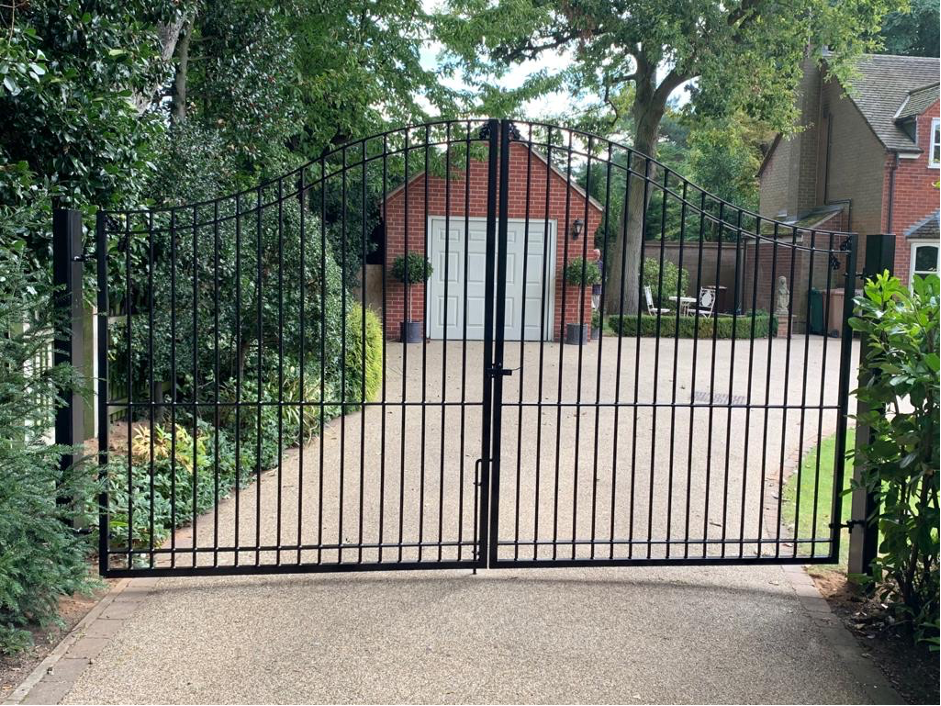 large wrought iron gates