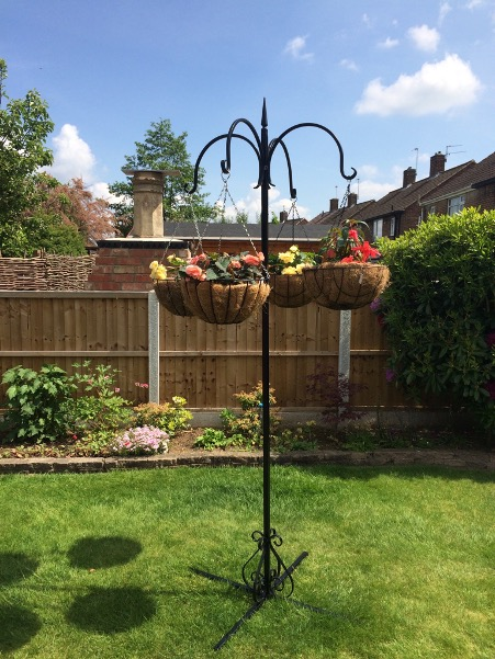 ornate metal garden hanging baskets